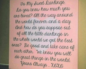 To My Sweet Darlings.... Wall Decor