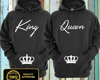hoodies couple shirts king and queen tshirts hubby t shirt wifey shirt