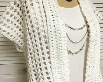 Summer Cotton Crochet Shrug Pattern