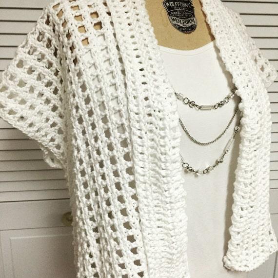 Summer Cotton Crochet Shrug Pattern