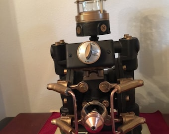 One of a kind steampunk lamp