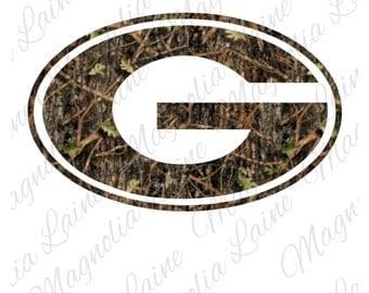 Camo Georgia G Decal | Georgia G Decal | Georgia Bulldogs Logo | Georgia G Sticker | Camo Georgia Decal | Georgia Yeti Decal | Georgia Car