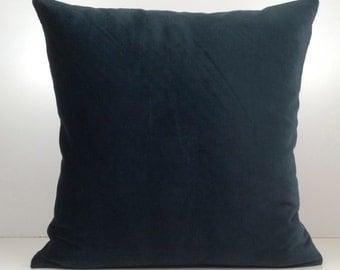 Dark Teal Pillow, Throw Pillow Cover, Decorative Pillow Cover, Cushion Cover, Accent Pillow, Velvet Pillow, Home Decor, Classy Pillow Cover