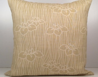 Light Yellow Green and Off White Pillow, Designer Pillow, Throw Pillow, Decorative Cover, Cushion Cover, Accent Pillow, Linen Pillow, Modern
