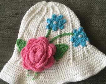 Spring flower hat