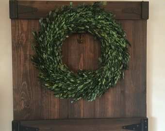 Barn Door Wreath Holder