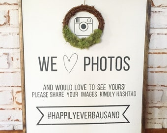 Instagram Hashtag Wedding Sign