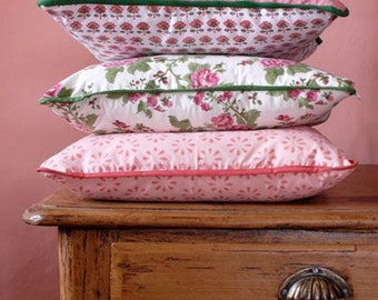 Pink Cushion Covers Hand Block Printed on Organic Cotton