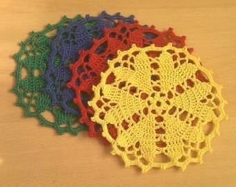 Set of 4 Doily / Coasters
