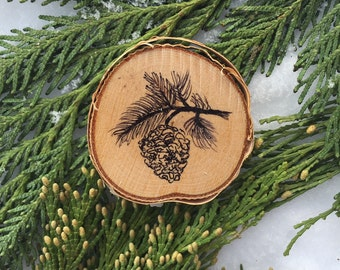Hand Painted Pine Cone Ornament