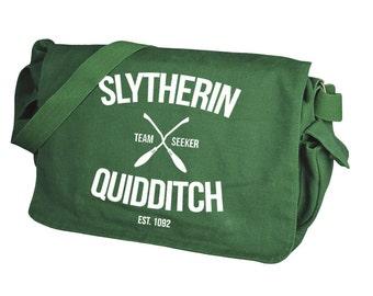 Slytherin Quidditch Green Messenger Bag