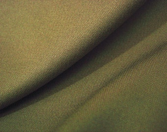 Khaki brown green stretch suiting fabric by the metre