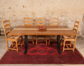 Elm and Beech Dining Table.