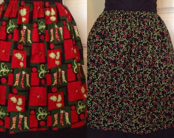 Christmas Apron - Stockings and Holly