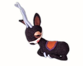 Giselle Gazelle - handmade plush creature plushie toy - unique birthday gift
