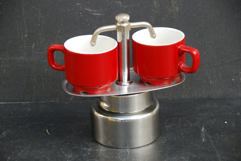 cafeti re percolateur induction avec 2 becs et ses 2 tasses. Black Bedroom Furniture Sets. Home Design Ideas