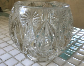 Vintage Avon Heavy Glass Votive Candle Holder