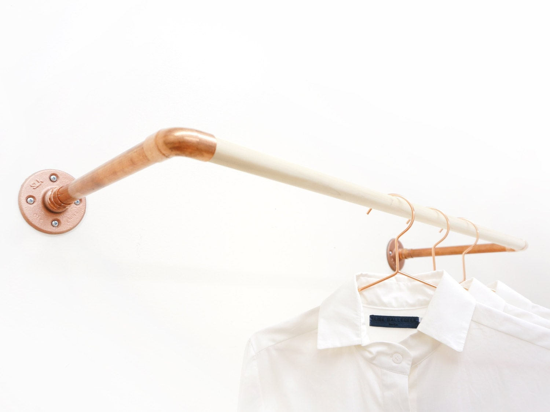 U rack wall mount clothing rack for Cloth hooks wall mount
