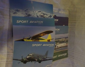 Collection of 8 Sport Aviation magazines from 1983