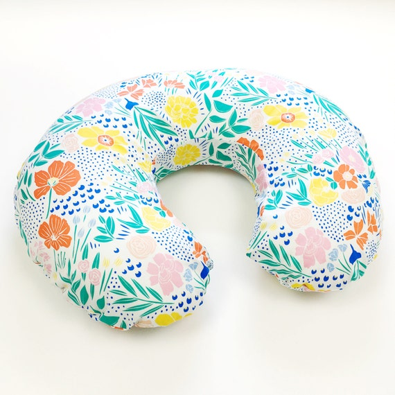 Organic Boppy Cover - 'Lore' Secret Garden in Multi - MADE-to-ORDER