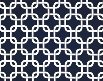 Navy and White Square Baby Bedding - Nursery - Toddler Bedding - Crib Skirt - Bumper Pads - Rail Guard - Pillow Cover - Burp Cloths