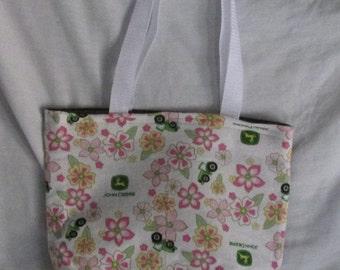John Deere (Pink Flower) Tote Bag