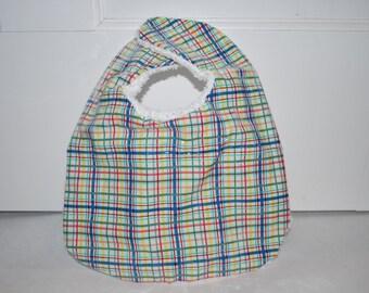 Multi Color Plastic Bib-Striped Bib-Gender Neutral Bib- Free US Shipping