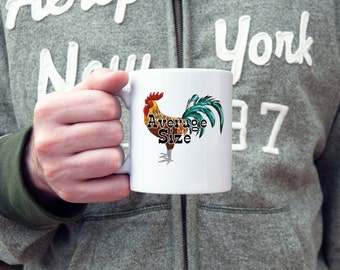 Average size coffee mug, average size penis, coffee mug, adult humor mug, sarcasm, rude mug, funny gift, gifts for him,  gifts under 20