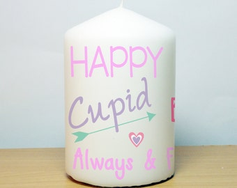 Valentine's Text Candle