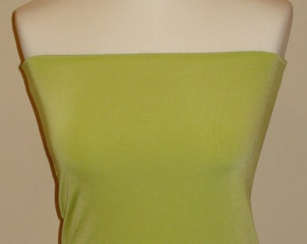 Lime green bandeau top crop top vest top boob tube top to wear with wrap twist infinity convertible dress