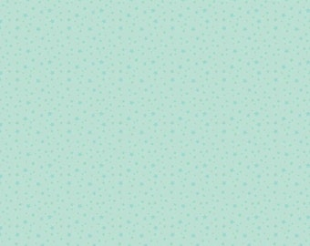 Riley Blake - Mint Stars - Fabric by the Yard
