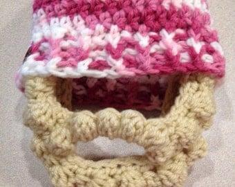 On SALE! Bearded hat Crochet motorcycle mask ski mask
