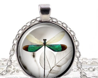 Whimsical Vintage Steampunk Dragonfly, Steampunk Shabby Chic Nature Jewelry Pendant Necklace
