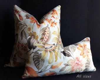 Decorative Pillow, Throw Pillow Cover, Linen pillow cover, Pillows, Accent pillow, Floral Pillow cover, home decor