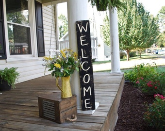Welcome pallet sign.  Front porch, wedding sign, wedding decor, porch sign, welcome, welcome signs, housewarming gift, door decor