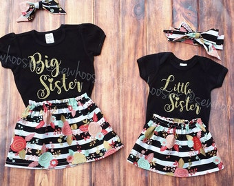 Big Sister Little Sister Outfits. Sister Shirts. Big Sister Shirt. Little Sister Shirt.