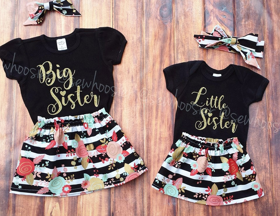 Big Sister Little Sister Outfits. Sister Shirts. Big Sister