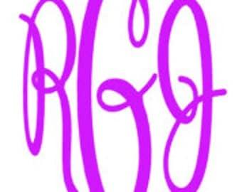 Keepsake Font Personalized Vinyl Monogram Decal/Sticker/Initials