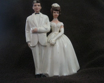 Bridcal Wedding Cake Topper 50s or maybe 60s