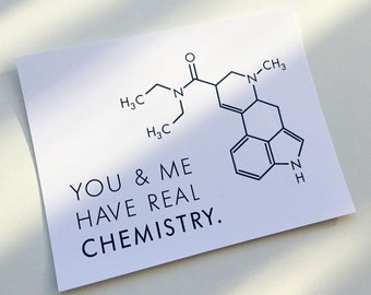 You U0026 Me Have Real Chemistry Valentine Romantic Note Card