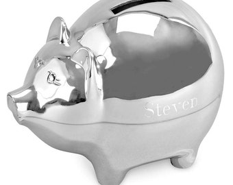 Piggy Bank - Personalized Piggy Bank - Ring Bearer Gift - Little Boys Gift - Coin Bank - Keepsake Gift
