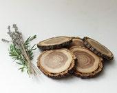 Wood slices, wood discs, wood ornaments, Christmas ornaments, elm slices, wood burning