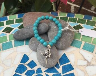 Little girls turquoise bracelet