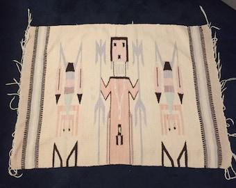 Beautiful woven Navajo Yei wall hanging.