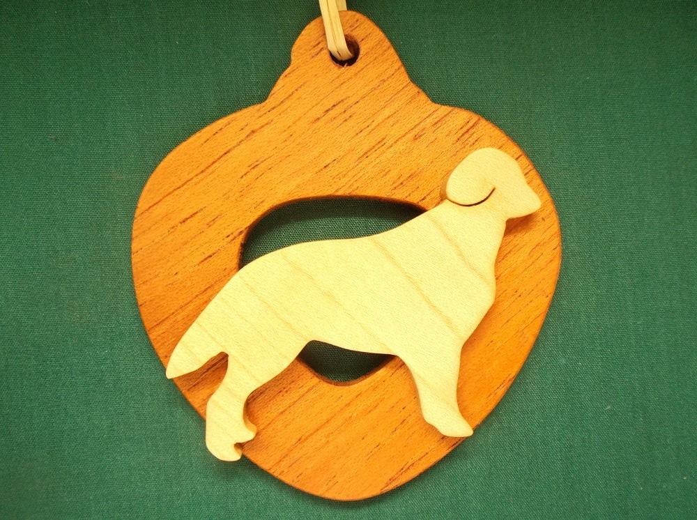 Golden Retriever Ornament personalized with your dog's name