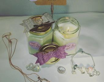 hidden jewellery necklace candle