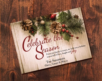 Celebrate the Season Christmas Greeting Card