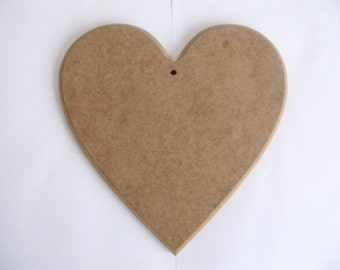Heart Shape Mdf For Mosaic and Crafting Projects HEART  Base 20cmx 20cm, 1 cm Thick MDF   for DIY