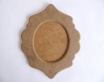 Curvy Frame Unfinished Picture Frame 24 cmx 19 cm 1cm Thick MDF Wood Frame DIY Wood Shapes DIY Kit