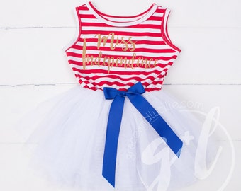 Fourth of July dress, First 4th of July Outfit,  4th of July outfit 4th of July Dress, Red White and Blue, Miss Independence